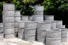 Stock of cement pipe Stock Photos