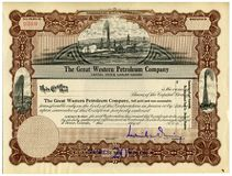Stock Certificate. Defunct Company Stock Certificate royalty free stock image