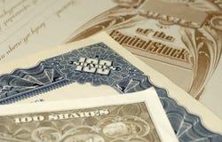 Stock Certificates Stock Photos