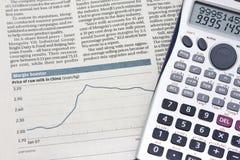 Stock chart Stock Photography