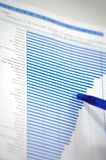 Stock chart. Showing business and financial report concept of financial report Stock Image