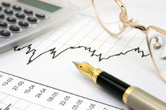 Stock chart Royalty Free Stock Image