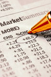 Stock Chart Royalty Free Stock Photo