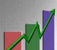 Stock chart. Rising Royalty Free Illustration