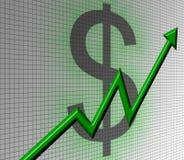 Stock chart. Rising stock chart Stock Illustration