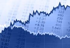Stock chart Stock Photos