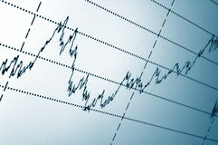 Stock chart Stock Photography