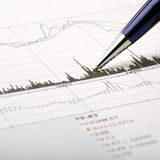 Stock chart analysis Royalty Free Stock Photo
