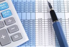 Stock Chart and Calculator Royalty Free Stock Photo