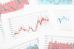 Stock Chart Exchange in Multicolor. Business Stock Chart or Exchange in Multicolor Royalty Free Stock Images