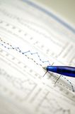 Stock chart and financial report. Showing business and financial report concept of financial report Stock Images