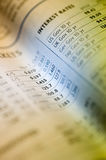 Stock chart in newspaper Stock Images