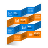 Stock chart theme modern infographics template Royalty Free Stock Image