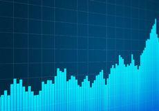 Stock chart up. Abstract graphics about stock chart up Stock Photography