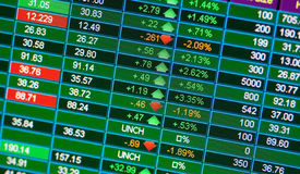 Stock charts Stock Photography