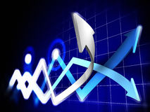 Stock Charts Royalty Free Stock Images