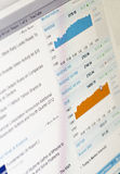 Stock charts. Going up, good economic Royalty Free Stock Images