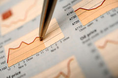 Stock charts Royalty Free Stock Photography