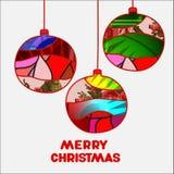 Stock  christmas decorative isolated boll.patchwork design Stock Photos
