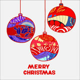 Stock  christmas decorative isolated boll.patchwork design. Illustration Stock Photography
