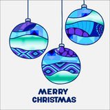 Stock  christmas decorative isolated boll.patchwork design. Illustration Stock Images