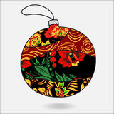 Stock  christmas decorative isolated boll.patchwork design. Stock  christmas decorative isolated boll.partchwork design.illustration Royalty Free Stock Photography