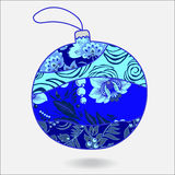 Stock  christmas decorative isolated boll.patchwork design Stock Image