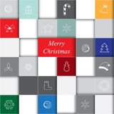 Stock christmas sguare info graphic with icon. infographic conce Stock Images