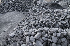 Stock of Coal. Royalty Free Stock Image