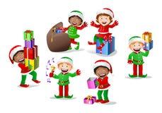 Stock colored cartoon dwarf elf Stock Images