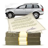 Money for the broken car Royalty Free Stock Images