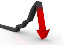 Stock Crash Royalty Free Stock Image