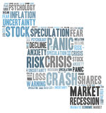 Stock crash panic Royalty Free Stock Photos