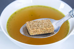 Stock cube with broth Royalty Free Stock Photos