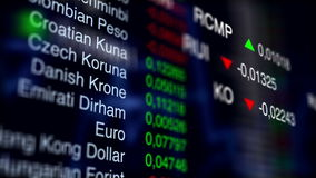 Stock Currency Exchange. Business Background. V1. Stock Currency Exchange. Animated Business Background with information table on background and flowing stock footage