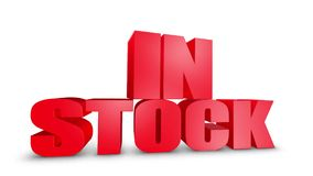 In Stock 3D Text Come Down 3D Animation Render. stock illustration