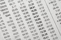 Stock data Stock Image