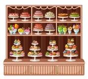 Stock de bonbons et de boulangerie Image libre de droits