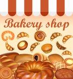 Stock de fond d'illustration de pain et de Se de cuisson de pain frais Photos stock