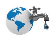 Stock di acqua su terra Fotografie Stock