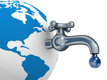 Stock di acqua sulla terra. Fotografia Stock