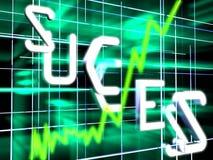 Stock diagram. Green futuristic stock diagram on dark background Royalty Free Stock Photography