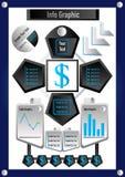 Stock e soldi grafici di affari di informazioni Fotografie Stock