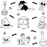 Stock element halloween doodle Royalty Free Stock Photo