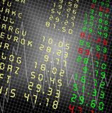 Stock exchange. Market display with a graph on a black background Stock Photo