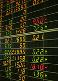 Stock exchange. Board stock exchange in thailand Royalty Free Stock Image