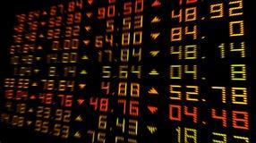 Stock Exchange. Digital numbers slight zoom Stock Photos