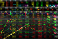 Stock exchange background stock image