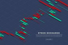 Stock exchange background. Candle stick graph chart of stock market investment trading, Stock exchange concept design and background. Vector illustrations vector illustration