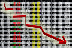 Stock Exchange Board Stock Photo